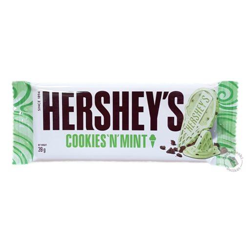 Hershey's Cookies 'n' Mint Mentás kekszes fehércsokoládé 39g
