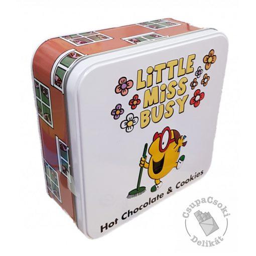 Little Miss Busy Forró csokoládé por és csokidarabos keksz fémdobozban 220g