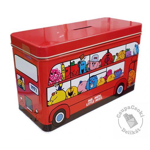 Mr. Men Little Miss Bus Csokidarabos keksz fémdobozban 150g