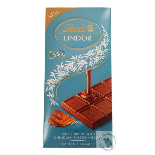 Lindt Lindor Salted Caramel Tejcsokoládé sós-karamellás krémmel töltve 100g