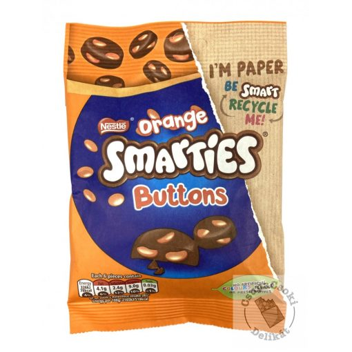 Nestle Smarties Orange Buttons tejcsokoládé drazséval 85g