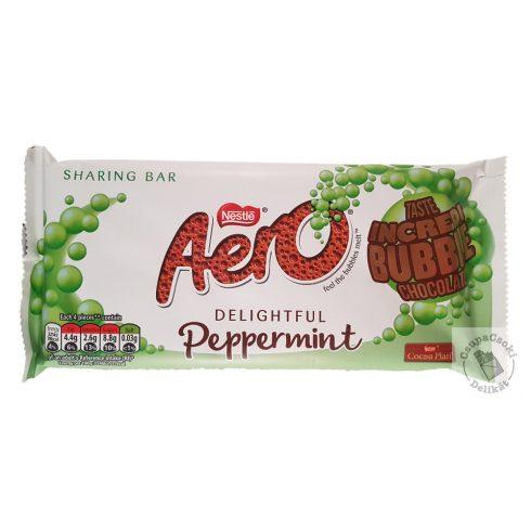 Nestlé Aero Peppermint Buborékos mentás tejcsokoládé 100g