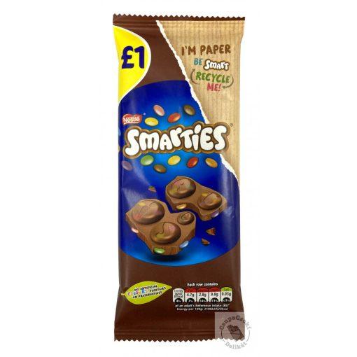 Nestle Smarties Táblás tejcsokoládé drazséval 90g