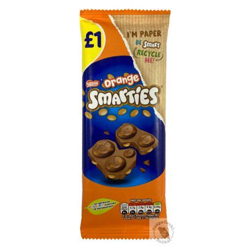 Nestle Smarties Orange Táblás narancsos tejcsokoládé drazséval 90g