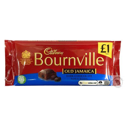 Cadbury Bournville Old Jamaica Étcsokoládé rumos-mazsolás ízben 100g