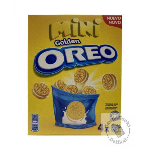 OREO Golden Mini Vaníliás keksz vaníliás krémmel 4x40g