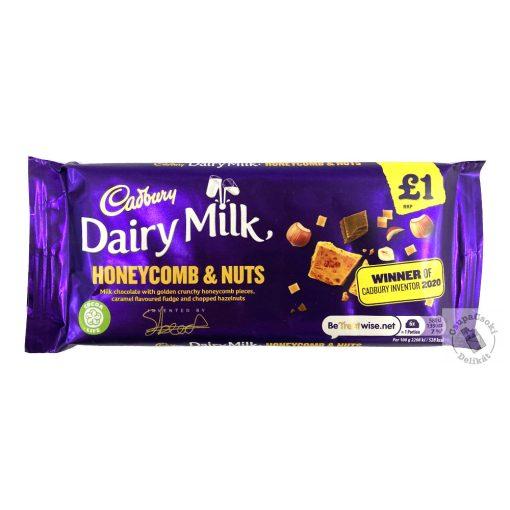 Cadbury Honeycomb Tejcsokoládé törökmézzel és mogyoróval 105g