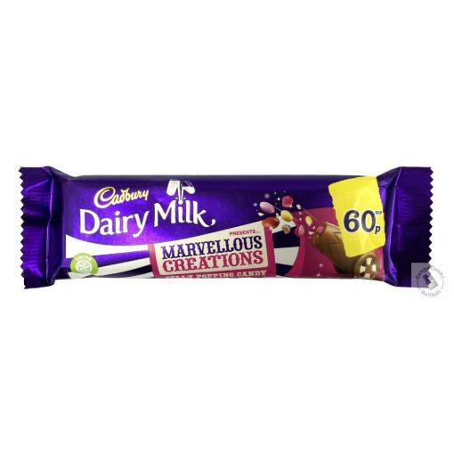 Cadbury Marvellous Jelly Popping Candy Tejcsokoládé szelet cukorkákkal 47g
