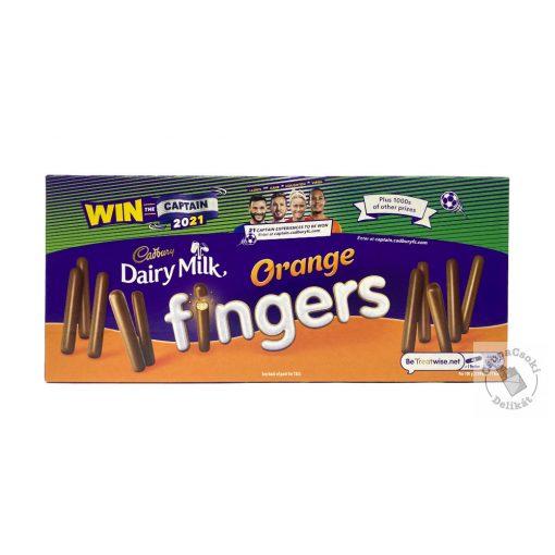Cadbury Fingers Orange Narancsos Kekszrudacskák tejcsokoládéval bevonva 114g