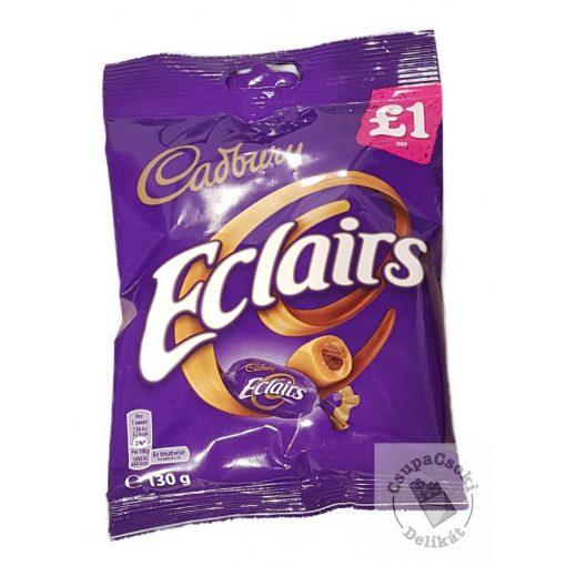 Cadbury Eclairs Csokoládékrémmel töltött karamell cukorka 130g