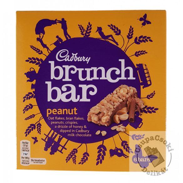 Cadbury Brunch Bar Peanut Mogyorós müzli szelet 6-os csomag (6x32g) 192g