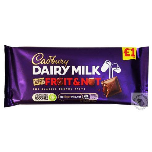Cadbury Fruit&Nut Mazsolás-mandulás tejcsokoládé 95g