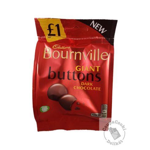 Cadbury Bournville Giant Buttons Étcsokoládé korongok 95g