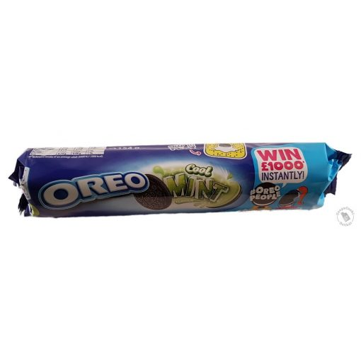 Oreo Cool Mint Mentás krémmel töltött kakaós keksz 154g