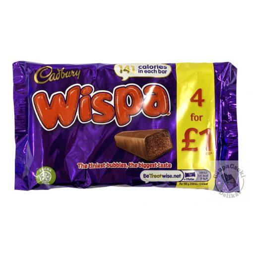 Cadbury Wispa Tejcsokoládé szelet 4-es csomag (4x25,5g) 102g