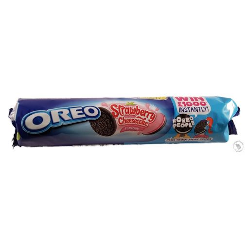 Oreo Strawberry Cheesecake Epres-sajttortás krémmel töltött kakaós keksz 154g