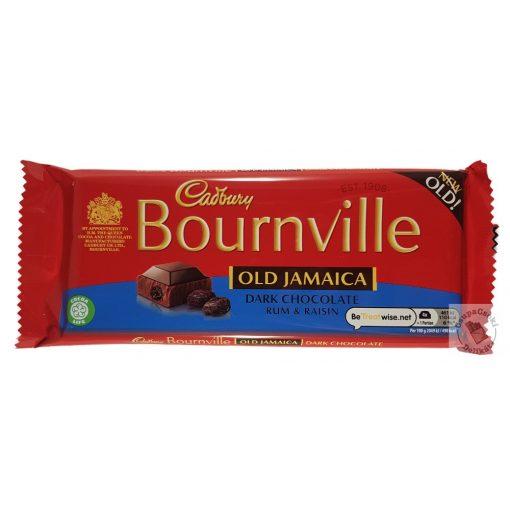 Cadbury Bournville Old Jamaica Étcsokoládé rumos-mazsolás ízben 180g