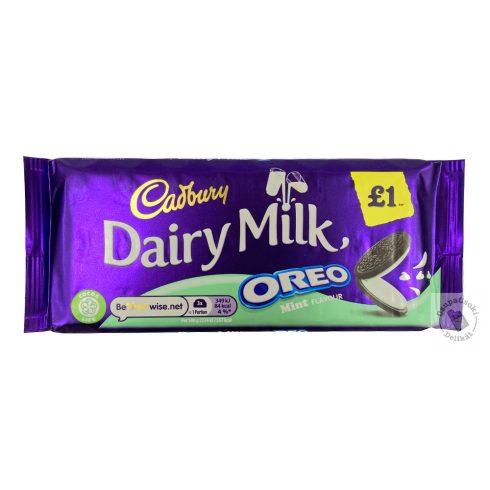Cadbury Oreo Mint Tejcsokoládé mentás - oreo kekszes töltelékkel 120g