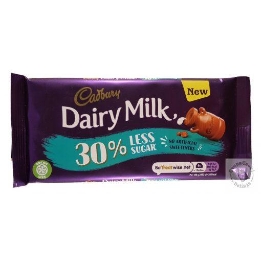 Cadbury Tejcsokoládé 30%-al kevesebb cukorral 85g