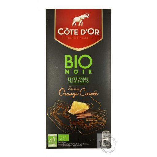 Cote d'Or Bio étcsokoládé naranccsal és fahéjjal 90g