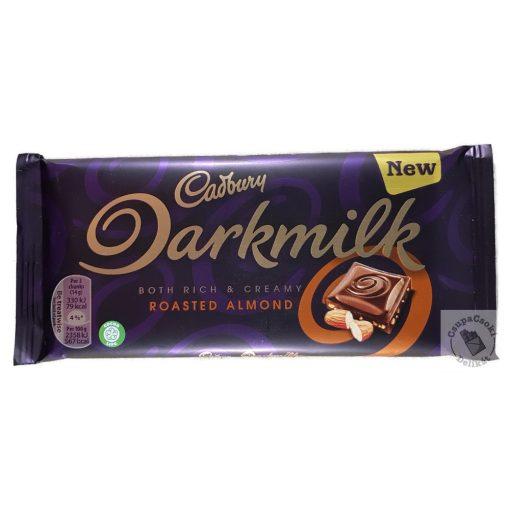 Cadbury Darkmilk Roasted Almond Tejcsokoládé megnövelt kakaótartalommal, pörkölt mandulával 85g