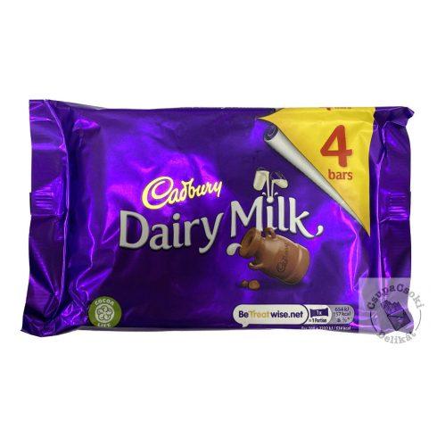 Cadbury Tejcsokoládé szelet 4-es csomag (4x29,3g) 117,2g