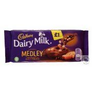 Cadbury Medley Tejcsokoládé fudge, keksz és étcsokoládé darabokkal 93g