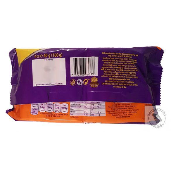 Cadbury Double Decker Töltött tejcsokoládé szelet 4-es csomag (4x40g) 160g