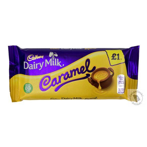 Cadbury Caramel Tejcsokoládé lágy karamell töltelékkel 120g