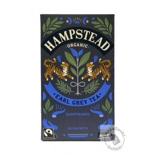 Hampstead Tea Earl Grey Fekete tea 20 filter, 40g
