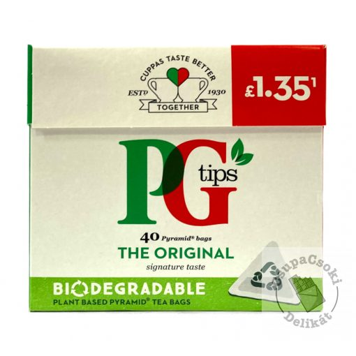 PG Tips Fekete tea 40 piramis filter, 116g