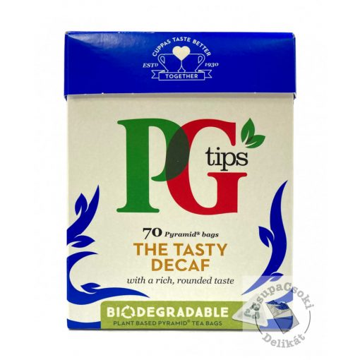 PG Tips Decaf koffeinmentes Fekete tea, 70 filter, 203g