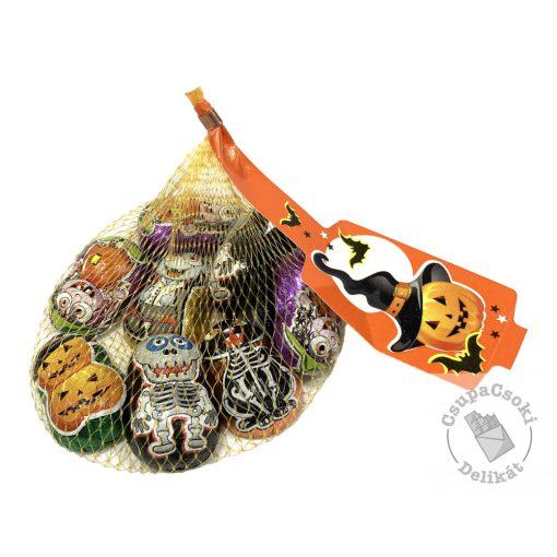 Halloween Tejcsokoládé figurák hálóban 90g