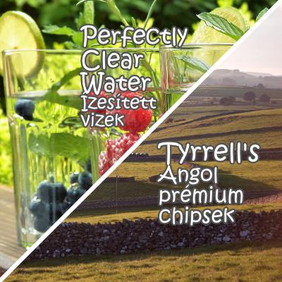 Kóstoló csomagok: Perfectly Clear ízesített vizek és Tyrrell's chipsek